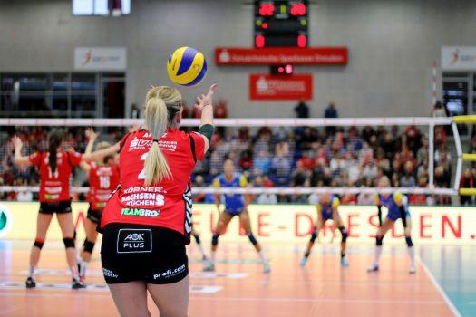 30 Minuten später schlagen Dresden & Schwerin im TV-Highlightspiel am 6. Dezember auf. © VBL
