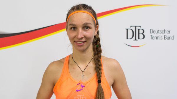 Tamara Korpatsch holt sich den ersten DM-Titel ihrer Karriere. © DTB