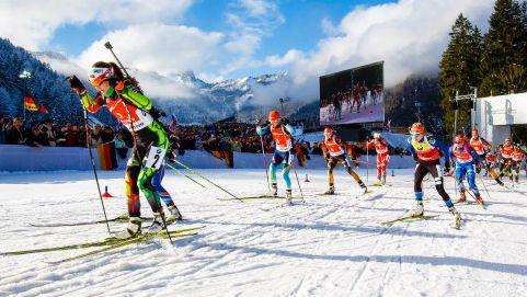 Am Freitag und Samstag finden die Biathlon-Staffelrennen in Ruhpolding statt. © Ruhpolding Tourismus GmbH