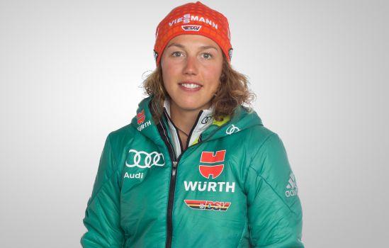 In der Verfolgung liefert Laura Dahlmeier ein spannendes Rennen und wird Zweite. © DSV