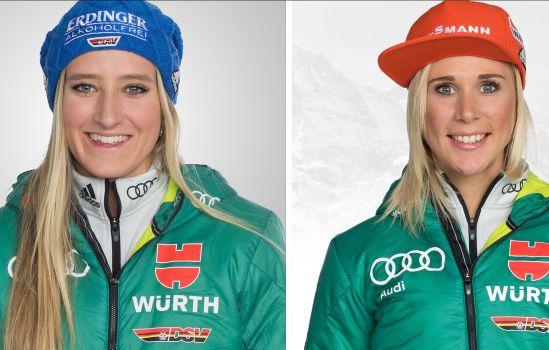 Anna Weidel (l.) und Karolin Horchler könnten bei der EM auf die Podestplätze laufen. © DSV