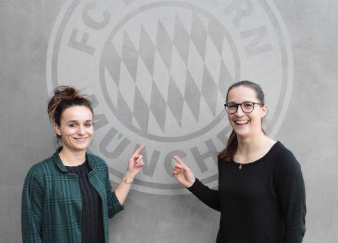 Lina Magull (l.) und Laura Benkarth wechseln zum FC Bayern München. © FCB