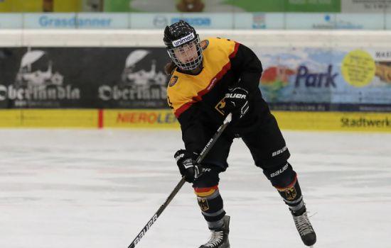 Bei der Jugendolympiade 2016 in Lillehammer: Tabea Botthof spielt für die deutsche U18-Nationalmannschaft. © privat