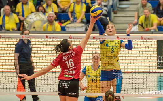 Starke Duelle zwischen dem Tabellenzweiten und -dritten der Hauptrunde warten auf Volleyball-Deutschland. © Dirk Michen