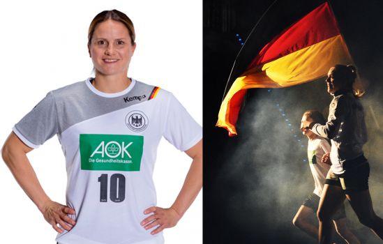 Anna Loerper verabschiedet sich aus der Nationalmannschaft der Handball Frauen. © DHB/Kahn