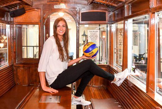 Lena Stigrot , Nationalspielerin und Neuzugang beim Dresdner SC, freut sich auf ihren ersten Supercup. © Dresder SC