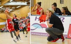 Sidney Parsons (l.) wird beim TSV 1880 Wasserburg unterstützt von Co-Trainerin Corina Kollarovics. © Andi Brei/Gabi Hörndl