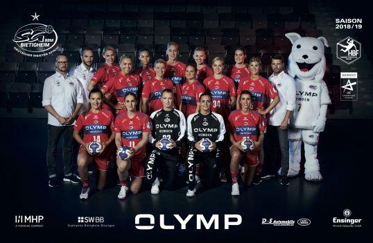 Das aktuelle Team der SG BBM Bietigheim startet stark in die Handballsaison 2018/19. © SG BBM Bietigheim