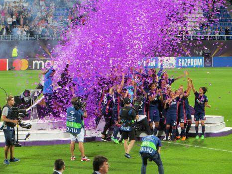 2018 holte Olympique Lyon den Titel im Finale gegen die VfL Wolfsburg Frauen. © By Visem - Own work, CC BY-SA 4.0