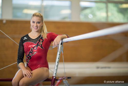 Turnerin Elisabeth Seitz holte bei der WM in Doha die Bronzemedaille. © DTB/picture alliance