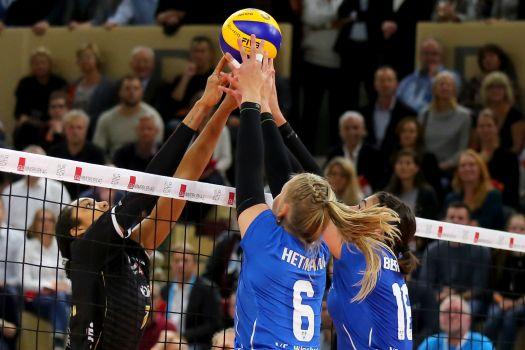 Der VCW will auch in Stuttgart um jeden Ball kämpfen. © Detlef Gottwald