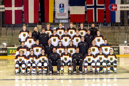 Die deutsche Frauen Eishockey Nationalmannschaft verliert gegen Schweiz und Tschechische Republik. © DEB