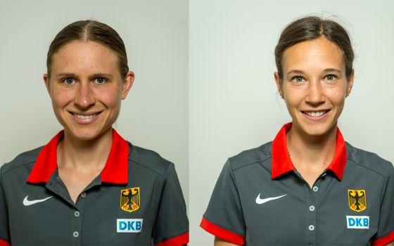Elena Burkard (l.) und Hannah Klein starten bei der Crosslauf-EM. © DLV/Jan Papenfuß
