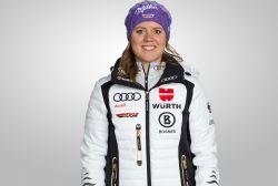 Viktoria Rebensburg ist heiß auf das Rennen in St. Moritz. © DSV