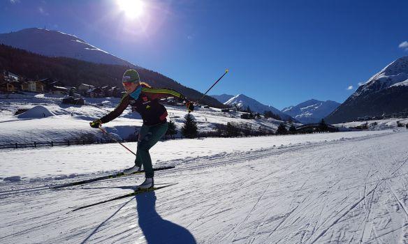 Auf der Loipe fühlt sie sich daheim: Langläuferin Elisabeth Schicho. © Schicho