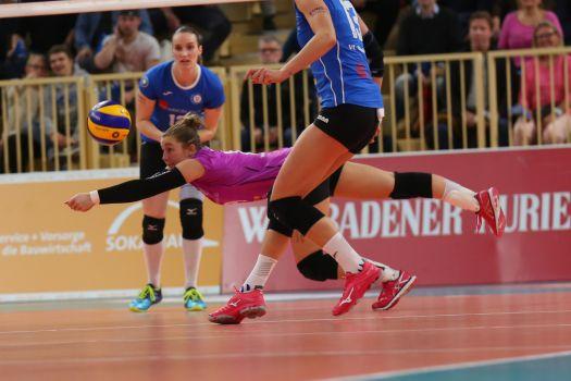 Die Mühe vergebens: VCW verliert gegen Münster. © Detlef Gottwald