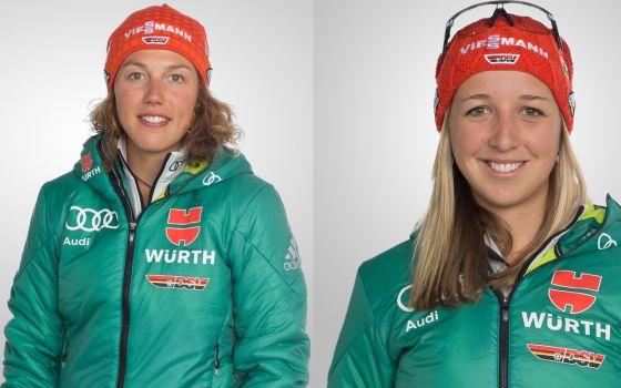 Laura Dahlmeier startet beim IBU-Cup, Franziska Preuß beim Weltcup in Hochfilzen. © DSV