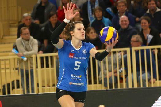 Wegen der Nationalmannschaft: Nathalie Lemmens kann beim Spiel gegen Schwerin nicht für den VCW angreifen. © Detlef Gottwald