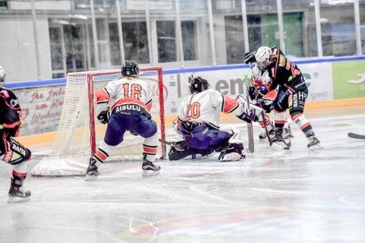 Die ECDC Memmingen Indians gewinnen im EWHL Supercup gegen Aiuslu Almaty 2:1 (2:0/0:1/0:0). © Alwin Zwibel