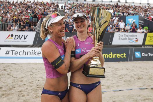 Karla Borger und Julia Sude gewinnen die Beachvolleyball-DM 2019. © Hoche Zwei/Joern Pollex