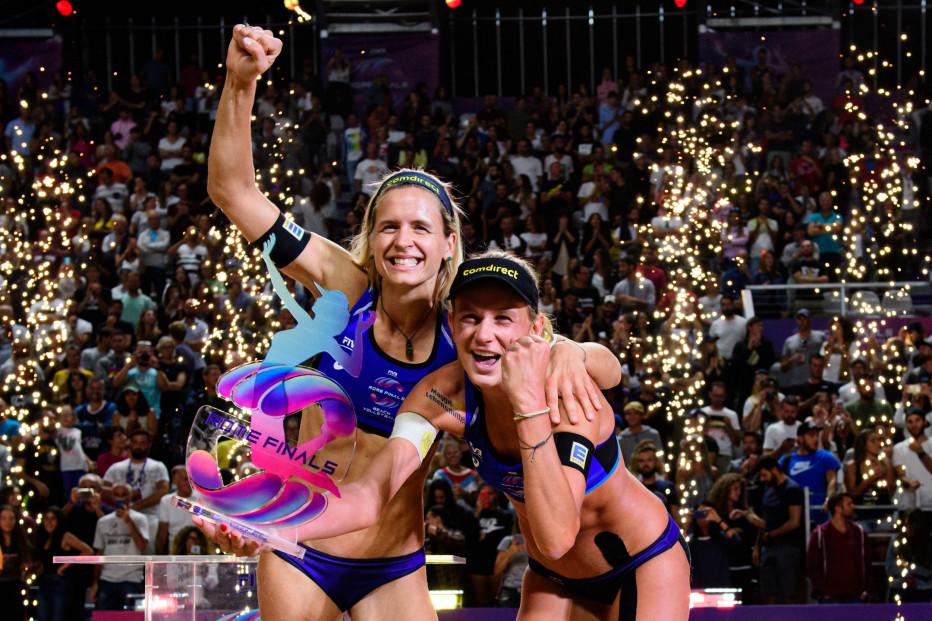 Margarete Kozuch und Laura Ludwig gewinnen das World Tour Finale. © FIVB