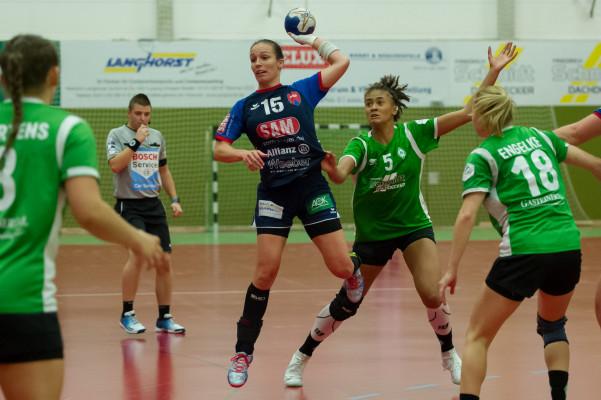 Erst zum Schluss konnte sich die SG H2Ku Herrenberg gegen SV Werder Bremen durchsetzen. © Hansepixx