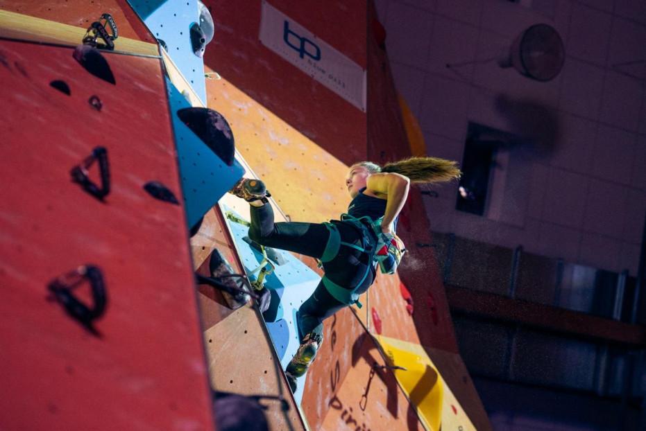 33 Starterinnen treten bei den Deutschen Meisterschaften im Lead an. © DAV/Thomas Schermer