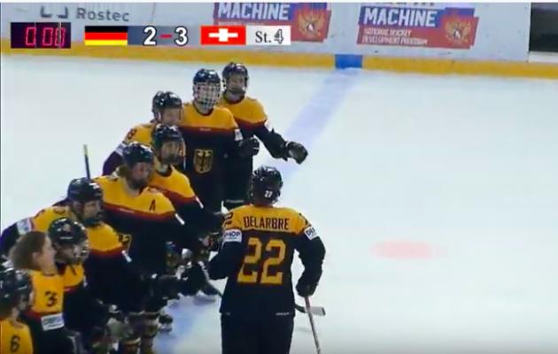 Die deutsche Mannschaft zeigt eine starke Teamleistung beim Spiel gegen die Schweiz. © Screenshot Youtube