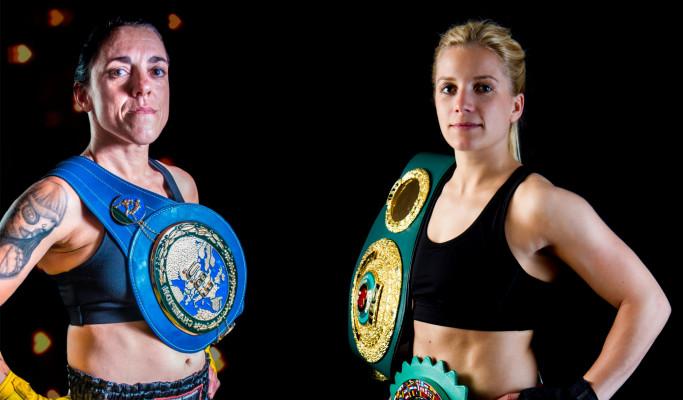 Catalina Díaz kämpft gegen Tina Rupprecht um den Weltmeistertitel. © Petko's Boxpromotion