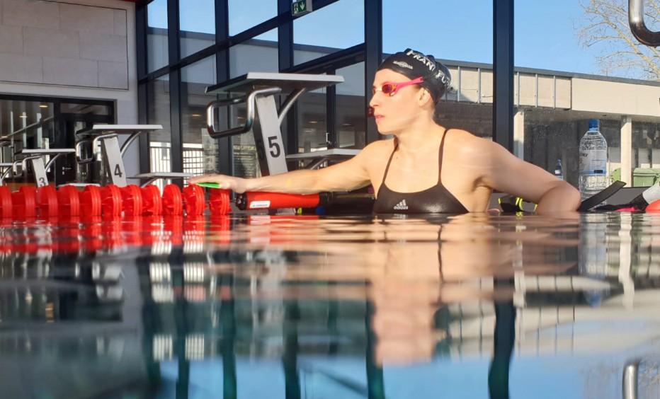 Schwimmerin Reva Foos richtet den Blick auf die Olympischen Spiele in Tokyo. © Reva Foos