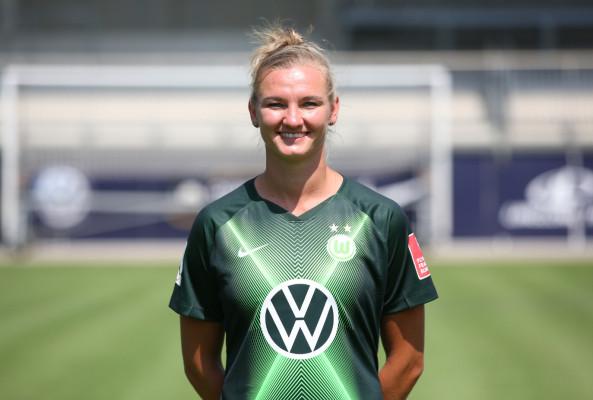 Alexandra Popp im Eurosport-Interview über den deutschen Frauenfußball. © VfL Wolfsburg