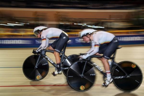Emma Hinze (hier bei der WM) holte beim Weltcup in Hongkong zwei Medaillen. © BDR