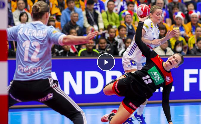 Die deutschen Frauen bei der Handball WM 2019 in Japan. © Screenshot Sportdeutschland.TV
