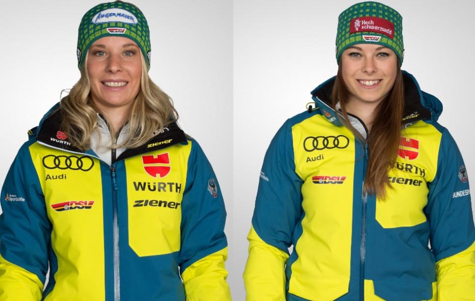 Die Skicrosserinnen Heidi Zacher und Daniela Maier freuen sich auf den Saisonstart. © DSV