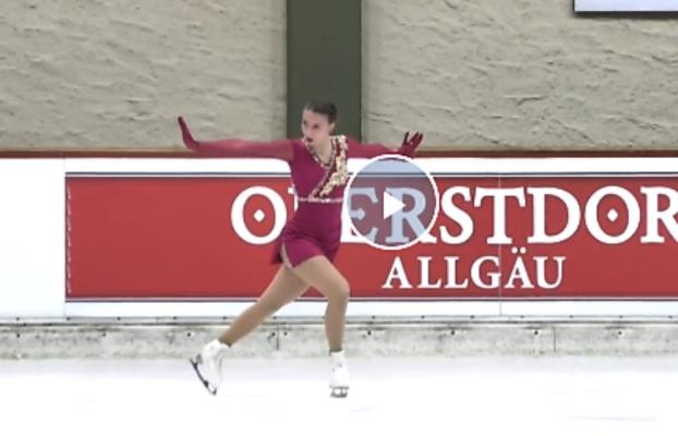 Nicole Schott läuft zum Meistertitel 2020. © Screenshot Sportdeutschland.TV