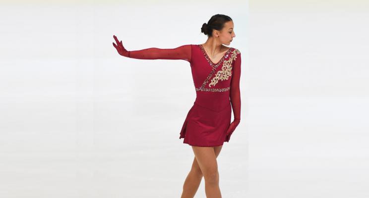 Nicole Schott läuft bei den Europameisterschaften im Eiskunstlauf in Graz. © Nicole Schott