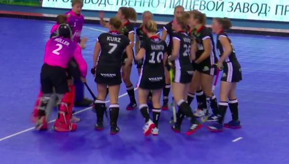 Keine Medaille bei der Hockey-Hallen-EM in Minsk für das deutsche Team. © Screenshot Eurohockey TV