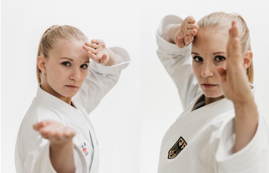 Zielstrebig und diszipliniert: Karateka Jasmin Jüttner weiß, weiß sie will. © Robin Winters