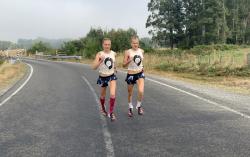 Anna und Lisa Hahner haben die Olympiazeit im Blick. © Hahnertwins