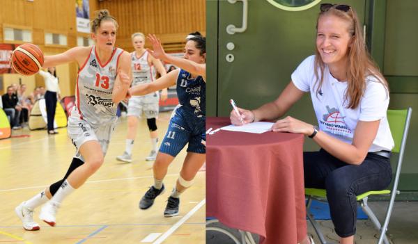 WNBA Draft Leonie Fiebich verlängert beim TSV Wasserburg in der DBBL. © Gabi Hörnt