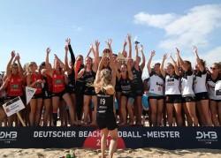 Strandgeflüster Minden sind die aktuellen Titelverteidigerinnen im Beachhandball. © privat