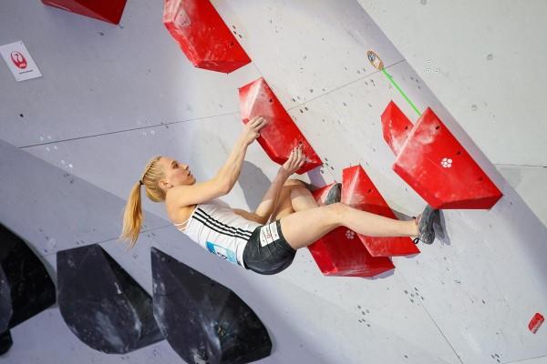 Auch die Kletterinnen und Kletterer kämpfen um Medaillen – und zwar gleich in vier Disziplinen: Lead, Speed, Bouldern und Combined. © DAV/Marco Kost