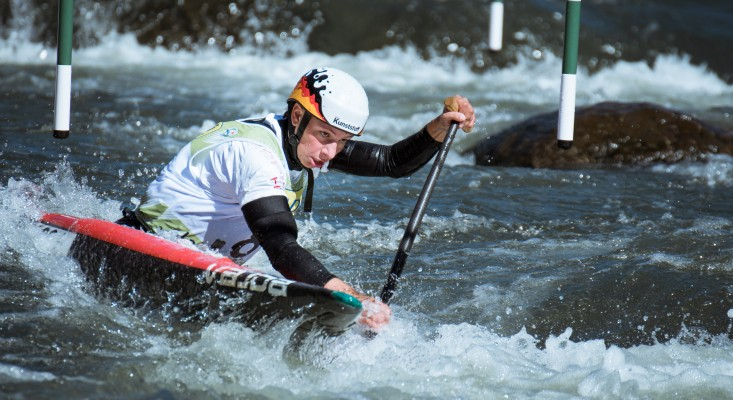 Andrea Herzog bei der Kanu-Slalom-WM 2019 in Spanien. © Antoine Lamielle, CC BY-SA 4.0, https://commons.wikimedia.org/w/index.php?curid=85654405