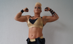 Als Alpha Female steigt Jazzy Gabert in den Wrestling-Ring. © Lena Bass