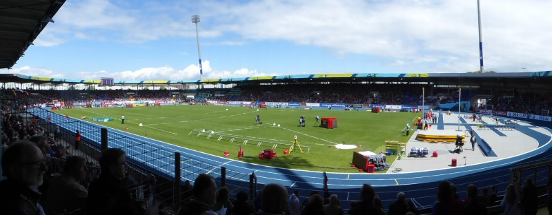 Im Eintracht Stadion Braunschweig finden die Titelkämpfe statt – aber ohne Zuschauer (Archiv). © Kassandro, CC BY-SA 3.0, https://commons.wikimedia.org/w/index.php?curid=37234821