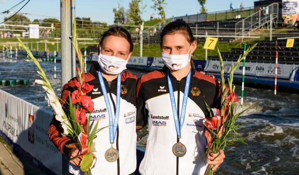 Andrea Herzog und Elena Apel holen Medaillen bei der U23-EM. © Philipp Reichenbach