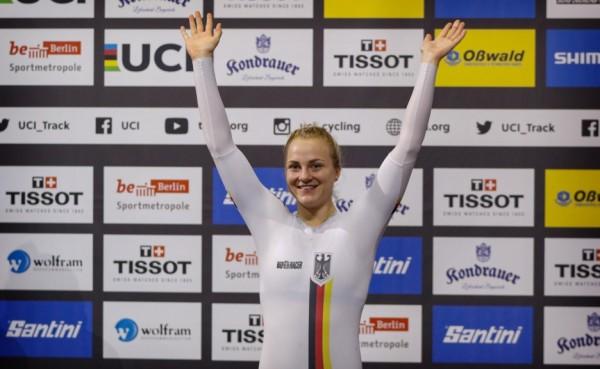 Lea Sophie Friedrich gewinnt bei der Bahn-EM 2020 auch das Sprint-Turnier. © BDR