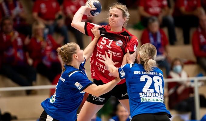 Der Thüringer HC konnte gegen die HSG Blomberg-Lippe den zweiten Heimsieg holen. © Christian Heilwagen