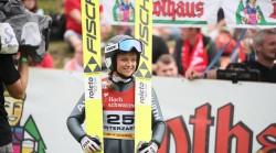 Gianina Ernst: Abschied von der großen Skisprungbühne. © Joachim Ernst