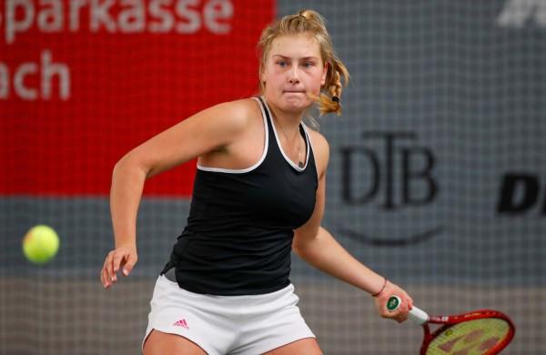Nastasja Schunk steht im Finale der Tennis Meisterschaften. © DTB/Mathias Schulz
